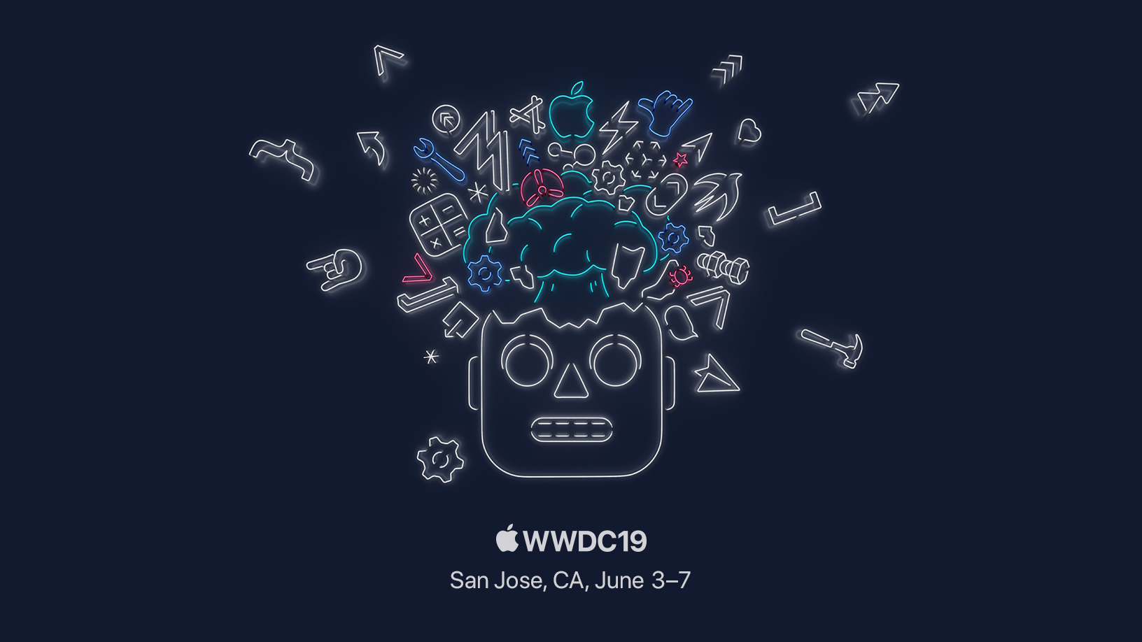 The Apple WWDC 2019 splash graphic